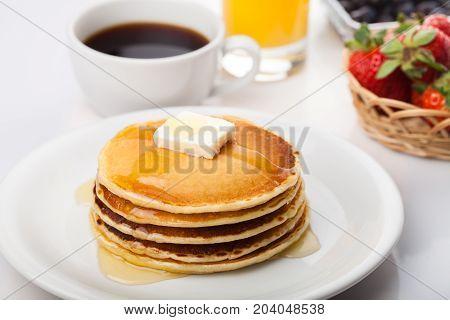 Cake tasty pancake butter pancakes yellow white