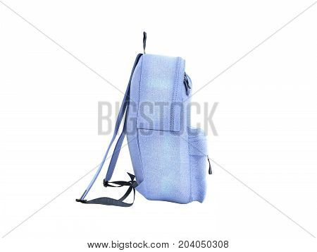 Open Backpack Bag School 3D Render On White No Shadow