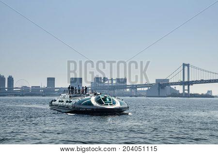 Hotaluna, Futuristic Design Ferry, Take Passengers To Odaiba Island, Tokyo, Tokyo Bay, Japan