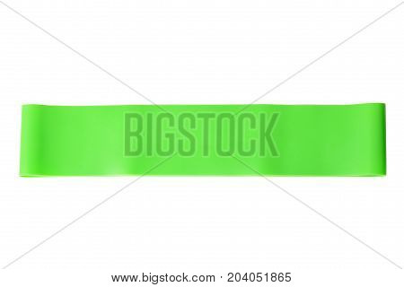 Close-up Isolated Green Sport Strap For Stretching