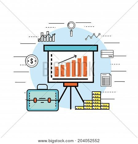 financial business strategy to corporate economy vector illustration