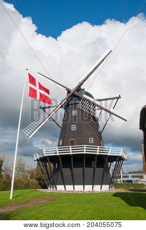 Ejegod Windmill In Nykoebing In Denmark