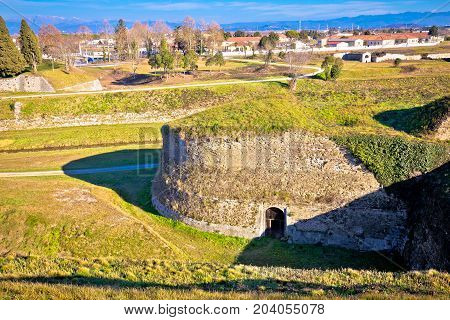 Town Of Palmanova Defense Walls And Trenches