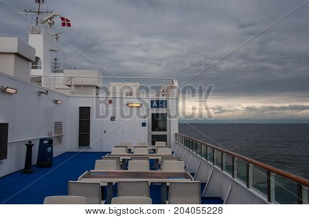 The Deck Of A Danish Ferry