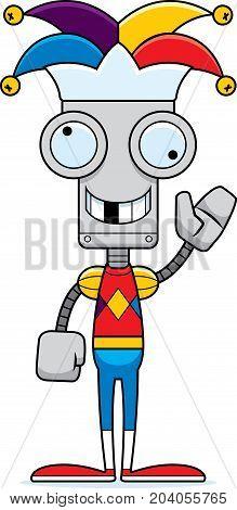 Cartoon Silly Jester Robot