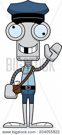 Cartoon Silly Mail Carrier Robot