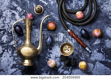 Arabian Hookah On Plums