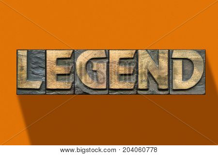 Legend Word Wooden Orange