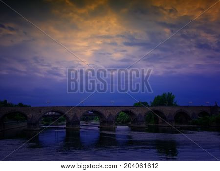 The Baldwin Bridge is a stone arch bridge over the Moselle in Koblenz Germany built in the 14th century.
