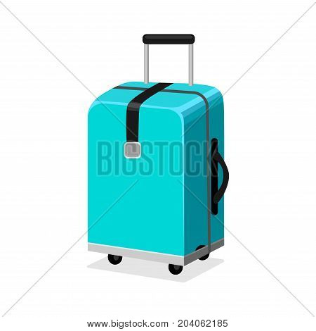 Time to travel, vacation planning concept illustration with realistic hand luggage suitcase and the set of tourism, journey, trip, tour, voyage, summer vacation doodle icons