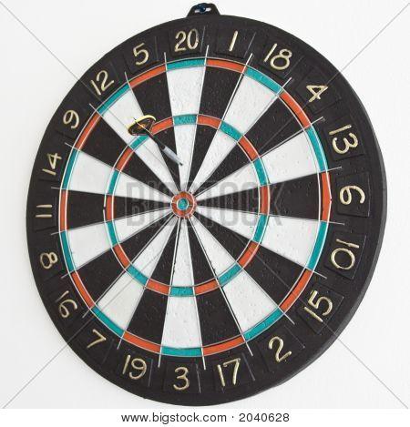 One Dart In The Dartboard