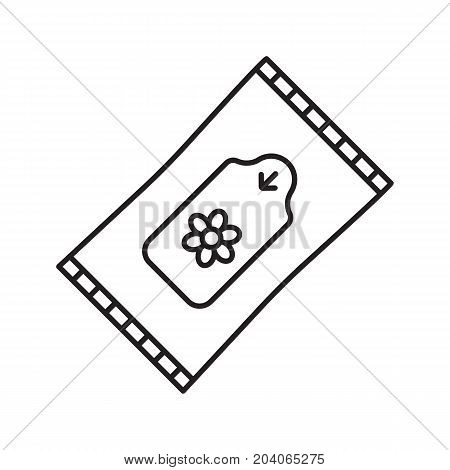 Wet wipes linear icon. Thin line illustration. Tissues contour symbol. Vector isolated outline drawing