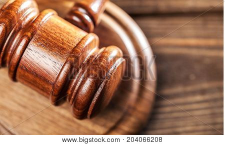 Judge gavel background paper isolated closeup business