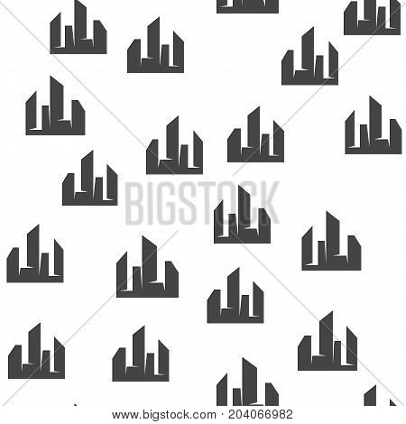 City seamless pattern. Vector illustration for backgrounds