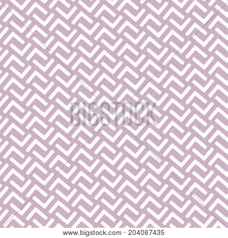 Geometric seamless pattern in east asian style. Fret che, Lattice, Puzzle, labyrinth style traditional vector seamless pattern. Dusty rose, light purple color of background.