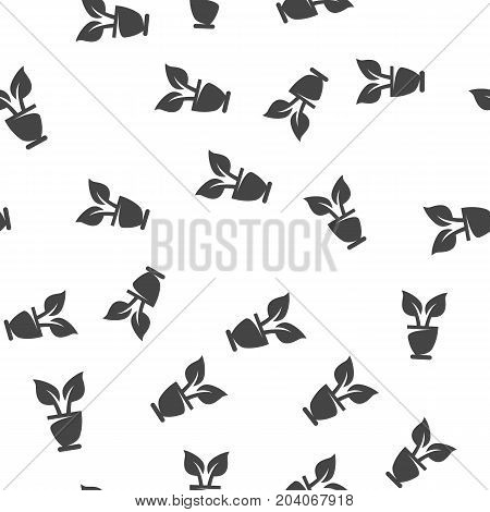 Flowerpot seamless pattern. Vector illustration for backgrounds