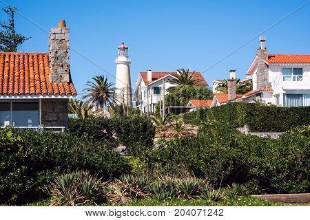 Peninsula Area With Lighthouse In Punta Del Este, Maldonado, Uruguay