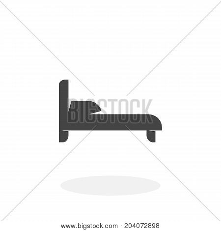Bed icon isolated on white background. Bed vector logo. Flat design style. Modern vector pictogram for web graphics - stock vector