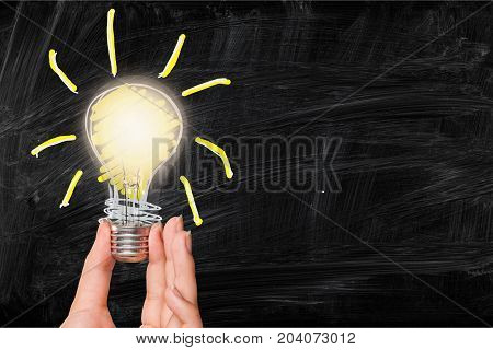 Light hand bulb led background object glass
