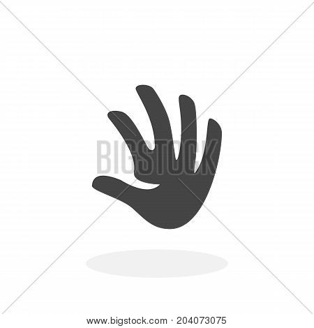 Hand icon isolated on white background. Hand vector logo. Flat design style. Modern vector pictogram for web graphics - stock vector