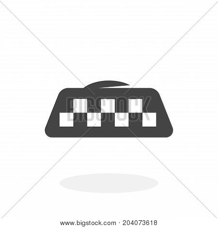 Taxi icon isolated on white background. Taxi vector logo. Flat design style. Modern vector pictogram for web graphics - stock vector