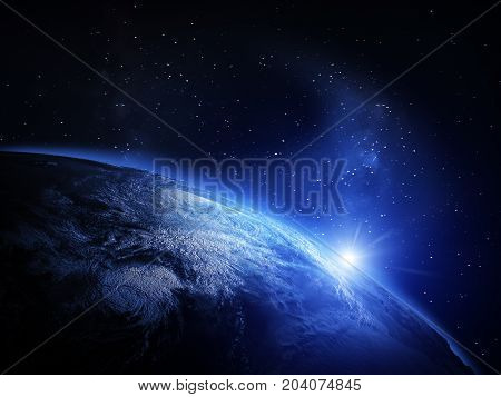 Earth from space. Elements of this image furnished by NASA 3d rendering