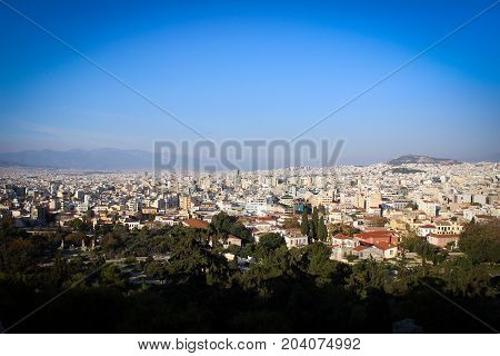City of Athens view from Acropolis Hill, Greece