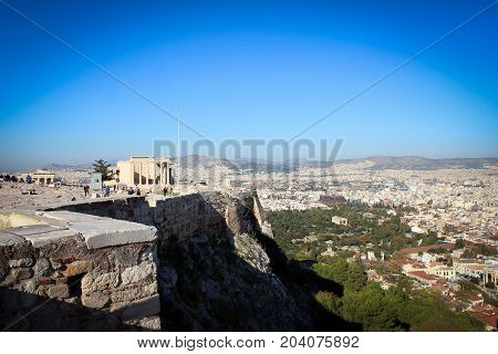 City of Athens panorama from Acropolis hill, Greece