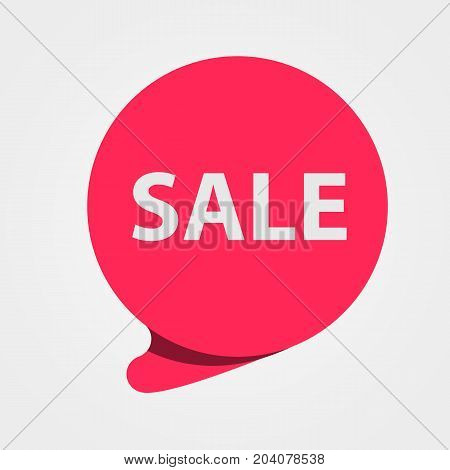 Special offer sale red tag. Discount, offer price label, symbol for advertising campaign. Sale sticker. Vector illustration