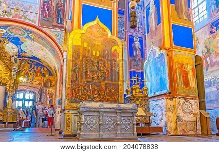 The Prayer Hall Of Suzdal Nativity Cathedral