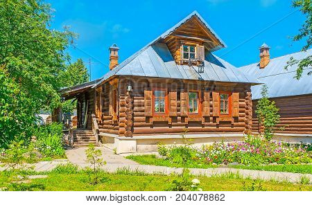 The Log Houses In Suzdal Intercession Monastery