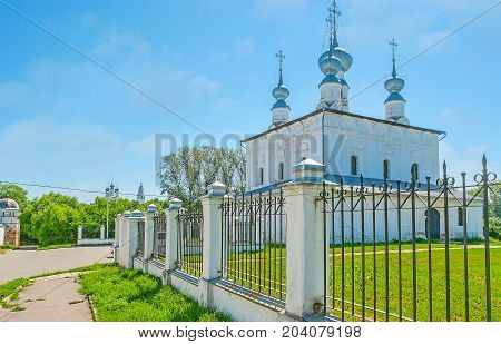 The Onion Domes Of Old Suzdal Church
