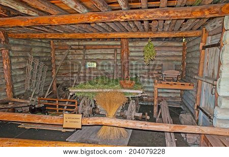 The Old Barn In Suzdal Museum Of Wooden Architecture