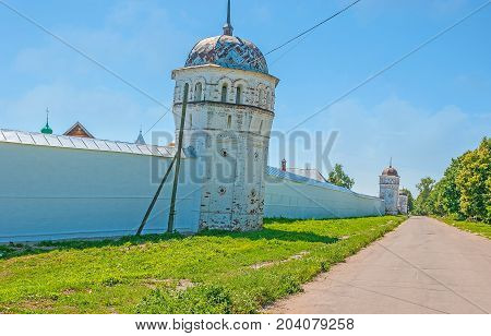 The Suzdal Monastery Wall With Towers