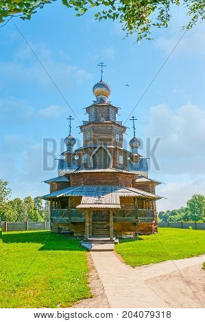 The Path To The Old Wooden Church In Suzdal