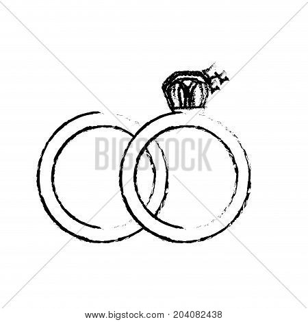 figure wedding ring to symbolic the love vector illustration