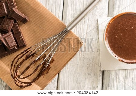 Chocolate On Egg Beater