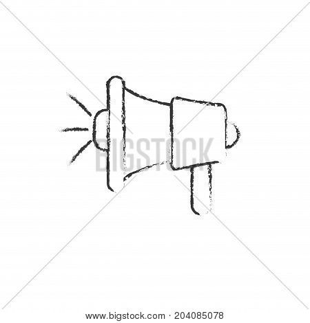 figure megaphone tool to speaker communication message vector illustration