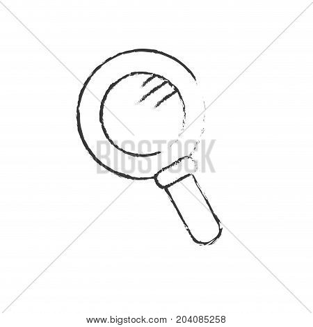 figure magnifying glass tool to explore vector illustation