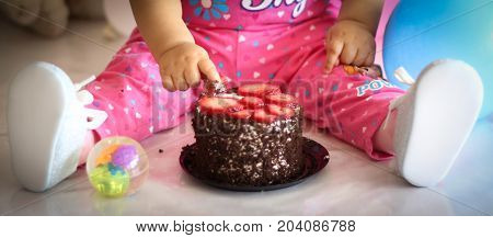 perfect chocolate cake for the first birthday