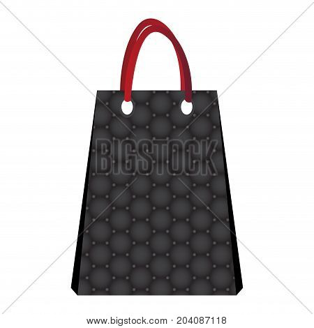 Isolated empty shopping bag on a white background, Vector illustration