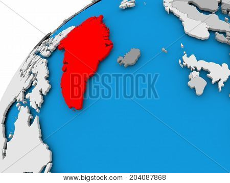 Map Of Greenland In Red