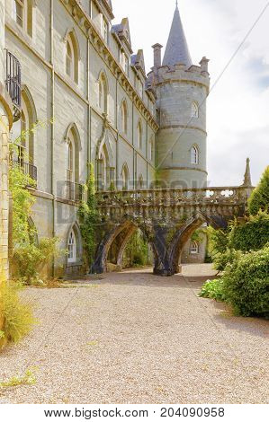 Invereray august 2014: this castle located in Argyll County is a must for every traveler in Scotland. In August you can visit the sumptuous interiors and the beautiful garden and at the end of the visit you can taste a tea at the café of the castle