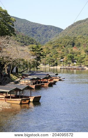 River view of Arashiyama, Kyoto, west Japan