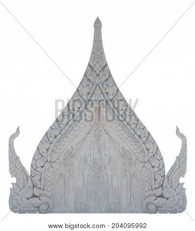 Cement gable thailand style isolated on white background. Clipping path