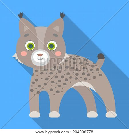 Lynx, single icon in flat style.Lynx, vector symbol stock illustration .