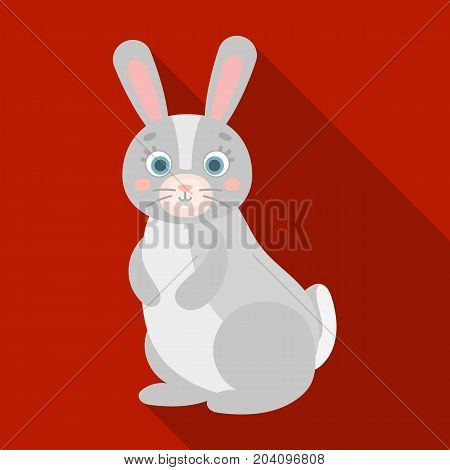 Hare, single icon in flat style.Hare, vector symbol stock illustration .