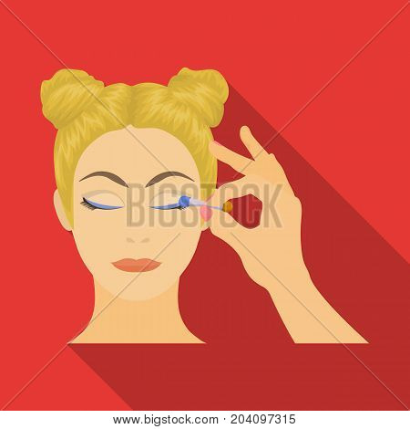 Makeup, single icon in flat style. Makeup, vector symbol stock illustration .