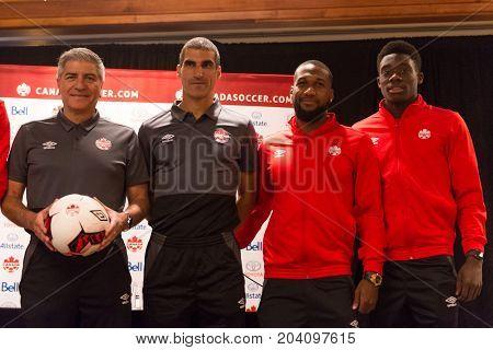 Canada Soccer Men's National Team Media Conference In Toronto