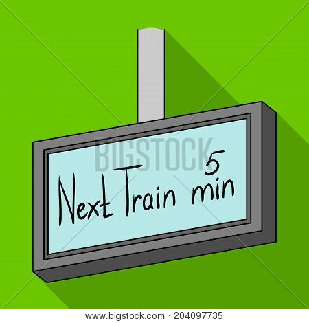 Signboard, single icon in flat style.Signboard, vector symbol stock illustration .
